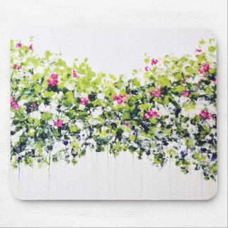 Summer Green Floral Mousemat