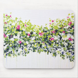 Summer Green Floral Mousemat Mouse Pad