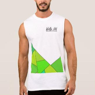 Summer green vest sleeveless shirt