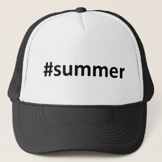 Summer Hashtag Trucker Hat