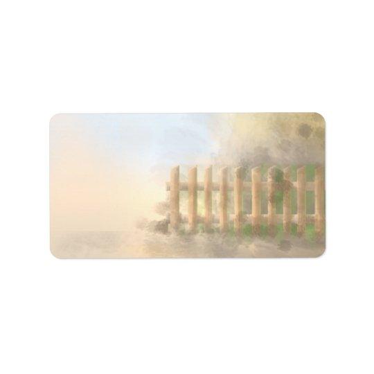 summer haze landscape design label