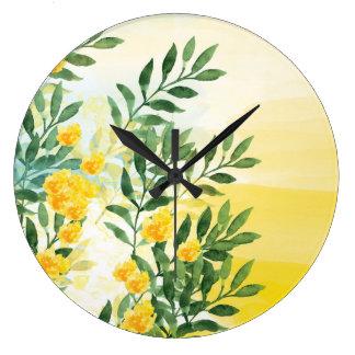 Summer Haze watercolor Wall Clock