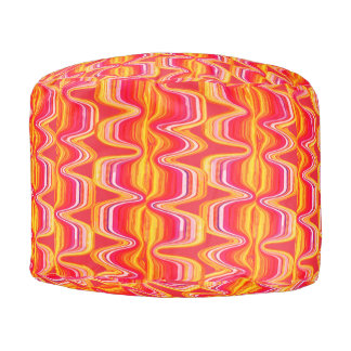 Summer Heat Color Marbled Watercolor Wash Pouf