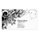 summer hi-fi (black & white) business cards