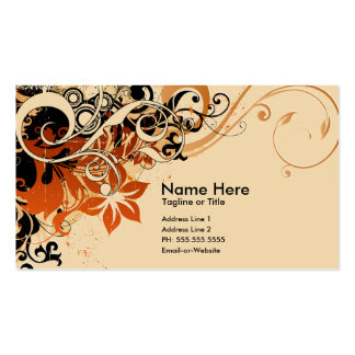 summer hi-fi soft peach business cards