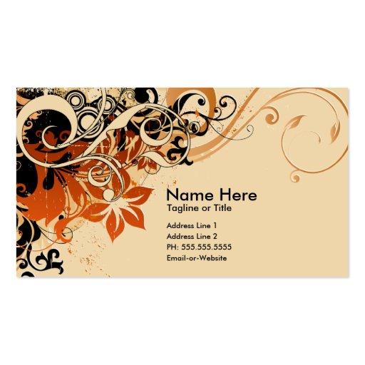 summer hi-fi : soft peach business cards