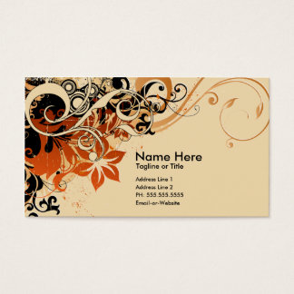 summer hi-fi : soft peach business card