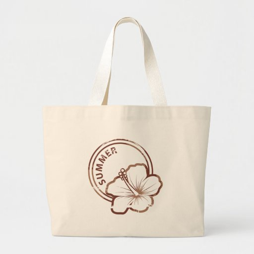 Summer hibiscus rubber stamp bag
