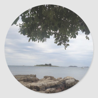 Summer Holiday Mediterranean Sea Photography Classic Round Sticker