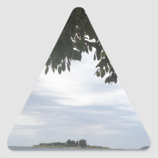 Summer Holiday Mediterranean Sea Photography Triangle Sticker