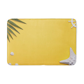 Summer Holiday Vacation Background Bath Mats