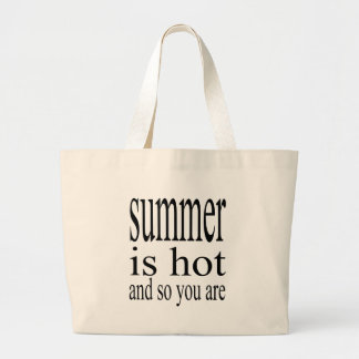 summer hot flirt love black couple boyfriend girlf large tote bag