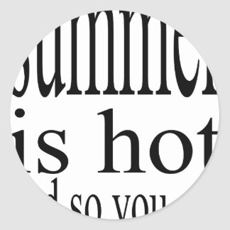 summer hot flirt love black couple boyfriend girlf round sticker