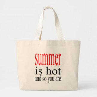 summer hot flirt love sweat couple boyfriend girlf large tote bag