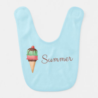 Summer Ice Cream Baby Bib