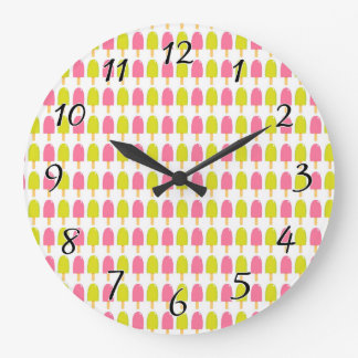 Summer Ice Cream Bars Wall Clock