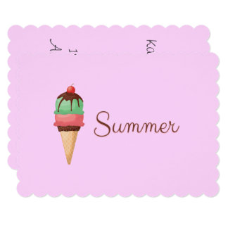 Summer Ice Cream Card