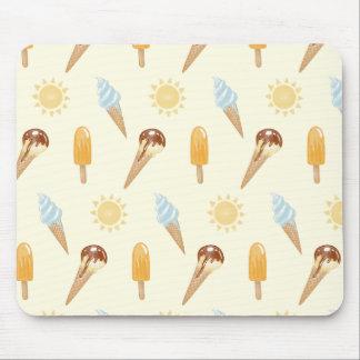Summer ice cream mouse pad