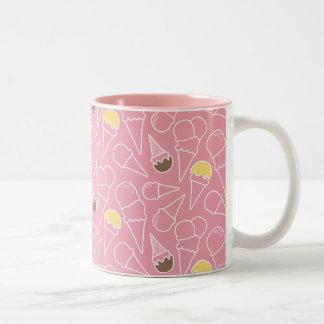 Summer Ice Cream Pattern Two-Tone Mug
