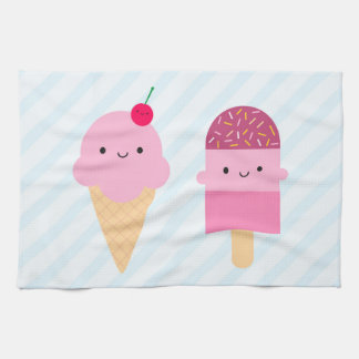Summer Ice Cream Treats Tea Towel
