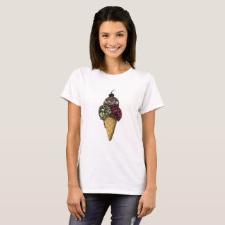 Summer Ice Cream With Cherry on Top Tshirt