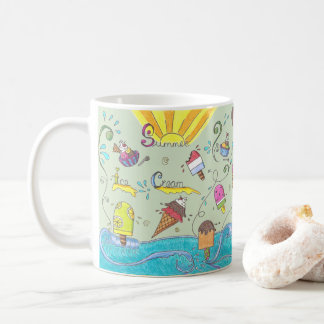 Summer ice creams classic coffee mug