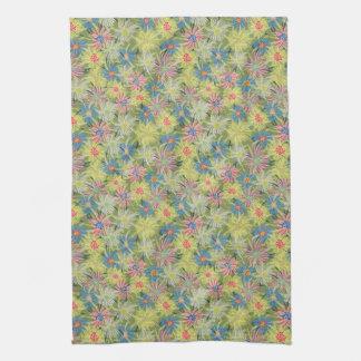 Summer Ice Plant botanical Tea Towel