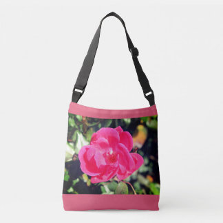 Summer in bloom beautiful pink flower tote. crossbody bag