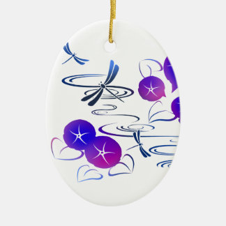 Summer in Japan - Cute and Classic Kimono Style Ceramic Oval Decoration
