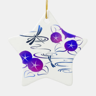 Summer in Japan - Cute and Classic Kimono Style Ceramic Star Decoration