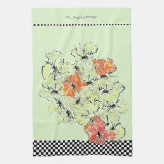 Summer into Fall Shabby Chic Wildflowers Tea Towel