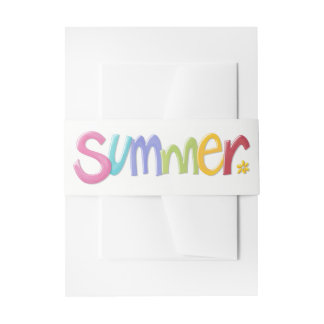 Summer Invitation Belly Bands Invitation Belly Band