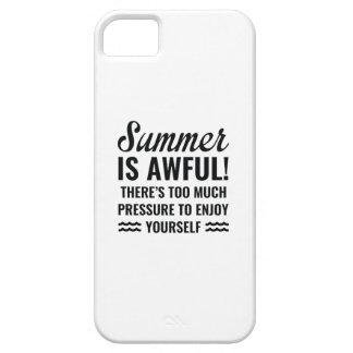 Summer Is Awful Barely There iPhone 5 Case