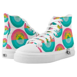 Summer Island Unicorn Printed Shoes