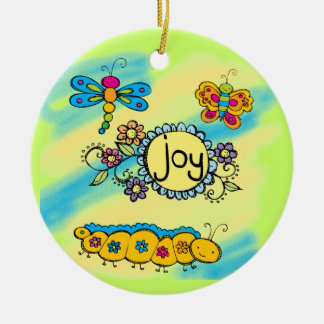 Summer Joy Double-Sided Ceramic Round Christmas Ornament