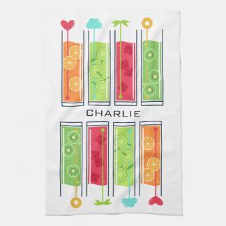Summer Juices custom name kitchen towel