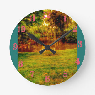 Summer Jungle Round Clock