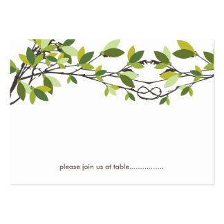 Summer Knotted Love Trees Wedding Place Card Business Card Templates