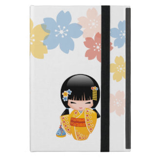 Summer Kokeshi Doll - Yellow Kimono Geisha Girl iPad Mini Case