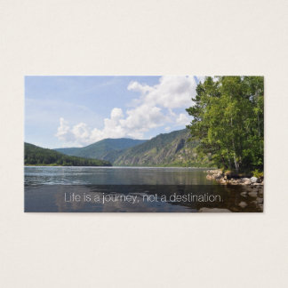 Summer Lake Inspirational Business Name Card