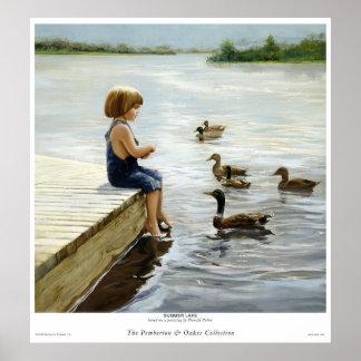 Summer Lake Poster
