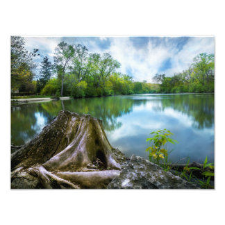 Summer Lake Poster 16x12|Landscape|Customize Size Art Photo