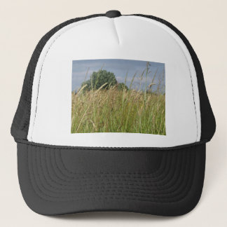 Summer landscape of wild field in the countryside trucker hat
