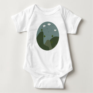 Summer landscape personalised baby bodysuit
