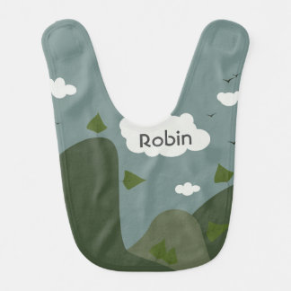 Summer landscape personalised bib