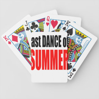 SUMMER LAST DANCE night couple invitation remember Bicycle Playing Cards