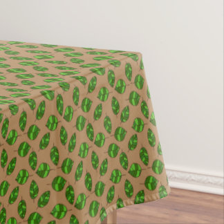 Summer Leaves Green Leaf Pattern on any Color Tablecloth