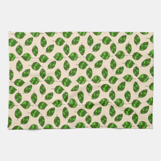 Summer Leaves Green Leaf Pattern on any Color Towel