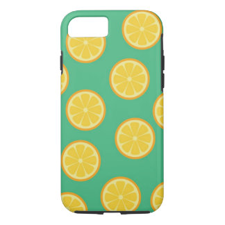Summer lemon pattern Case-Mate Tough iPhone 7 Case