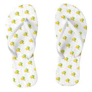 Summer LemonLime Flip Flops